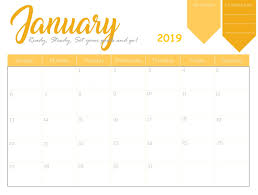 2019 Calendar Printable Template Free Download January 2019 Printable Calendar April 2019 Calendar