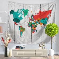 8 styles world map wall hanging tapestry blanket beach yoga towel throw cover bedspread