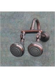 bronze dual shower head adapter 2 oil rub
