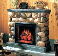 decoration river rock fireplace electric pictures faux stone surround