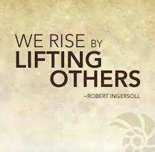 "We rise by lifting others."" – Robert Ingersoll #leadership #quotes 