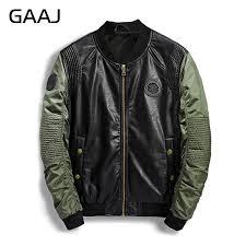 2018 spring summer military er jacket men camo streetwear leather denim camouflage army biker jackets pilot for men s coat d18100902 black leather