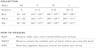 Maternity Pants Size Chart Size Guide Tart Collections