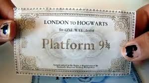 hogwarts train ticket diy hogwarts 9 3 4 train ticket diy