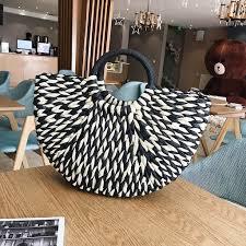 <b>Handbag</b> Female Big <b>Travel</b> Vacation Totes <b>Bamboo Handbag</b> For ...