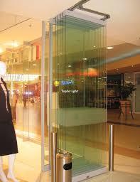 framless glass folding door for mall or office