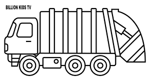 Truck Coloring Pages Free Printable Semi Dump Tow Sheets Cement