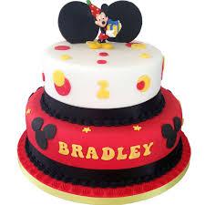 Mickey Mouse Birthday Cake Flecks Cakes