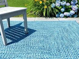 outdoor braided rugs blue indoor rug