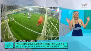 Goleada do Palmeiras faz audiência da Band disparar em São Paulo •  Teleguiado