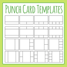 Free Punch Cards Template Punch Cards Template Worksheets Teaching Resources Tpt