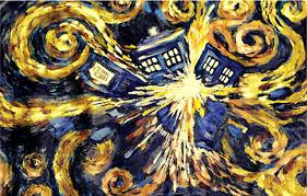 doctor who van gogh s exploding tardis poster