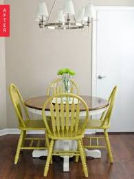 before after a plain dining set pops painting kitchen tablesdiy
