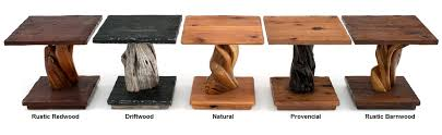 wood end tables. Wood Sample Colors Rustic End Tables