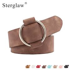 new fashion womens designer round casual las belts for jeans modeling belts without buckles leather belt cinturon mujer n002