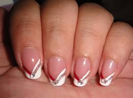 fall+nail+art+designs | ... Chevron French Plus Fall Nail Art for ...