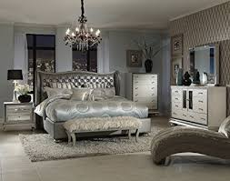 hollywood swank bedroom set. Plain Hollywood Hollywood Swank California King Graphite Bedroom Set By Aico Amini Throughout O