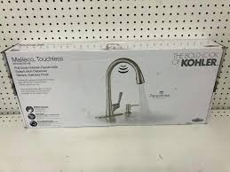 kitchen faucet with soap dispenser elegant once installation on kohler malleco touchless instructions sensor touch faucets pull down