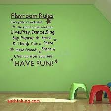 playroom es kids playroom wall decals inspirational words and es playroom rules wall decal sticker for
