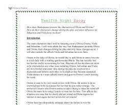 twelfth night how does shakespeare present the characters of  document image preview