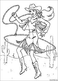Small Picture Coloring page Barbie rodeo rope Coloringme