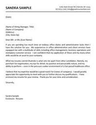 medical sales cover letter covering letter for admin job