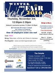 trainings and winter job fair from the workforce center winter 2016 job seeker flyer final 2