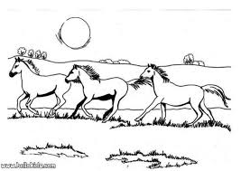 Galloping Horses Coloring Pages