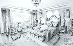 Interior Design Bedroom Sketches One Point Perspective ...