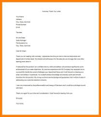 9 Thank You Letter Interview Email Tubinet Dad