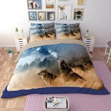 tiger comforter animal wolf leopard 3 bedding sets queen king twin full size duvet cover pillowcase bedclothes sets pretty comforter sets white tiger