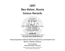 Neu Organizational Chart Neu Balzar Census Records 1897 Now Available American