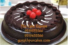 1 Kg Nutty Chocolate Cake Delivery Gorakhpur Online Cakes For Wife