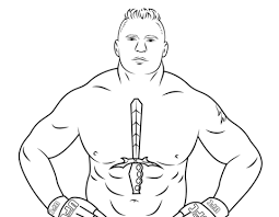 Small Picture WWE Brock Lesnar coloring page Free Printable Coloring Pages