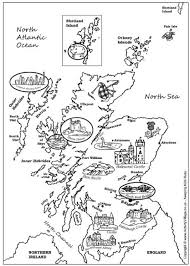 Small Picture Map of Scotland colouring page Around the World Pinterest