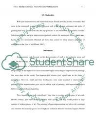 impressionism and post impressionism essay example topics and  impressionism and post impressionism essay example text preview