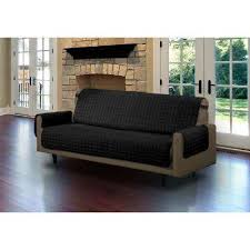Sofa pet covers Suede Black Microfiber Sofa Pet Protector Slipcover With Tucks And Strap Kicksdealsco Slip Covers Furniture Accessories Replacement Parts Furniture