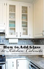 Plastic Kitchen Cabinet Gorgeous How To Add Glass To Cabinet Doors