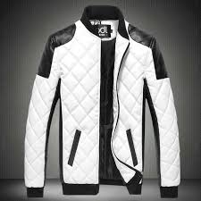 details about men s leather jacket motorcycle slim warm zipper biker coat outwear tops leisure