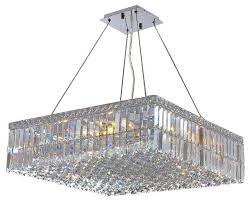 cascade 12 light chrome finish and clear crystal 24 square chandelier large chandeliers by the crystal lighting authorized dealer
