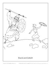 Decent David And Goliath Coloring Page Q6283 Loveable David Goliath
