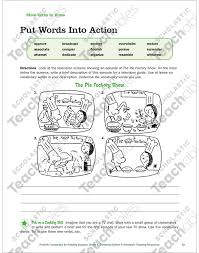 Tv Guide Chart For Short Crossword Action Verbs Grade 4 Collection Printable Leveled Learning