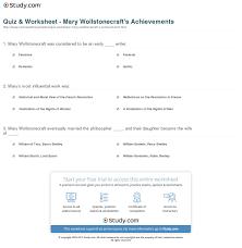 quiz worksheet mary wollstonecraft s achievements com print mary wollstonecraft works achievements influence worksheet