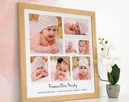 baby collage frame baby photo collage etsy
