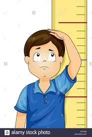 Illustration Of A Kid Boy Standing In Front Of Height