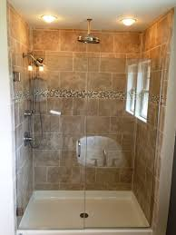 creative small bathroom shower with window and mosaic backsplash tile feat pretty recessed lighting idea impressive small shower to enhance bathroom design bathroomglamorous creative small home office