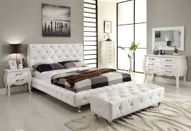 Modern Bedroom Furniture Nj Maria 4 Pc Contemporary Bedroom Set In White 176720
