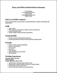 Resume Format Examples For Job Gorgeous Resume For Clerical Job