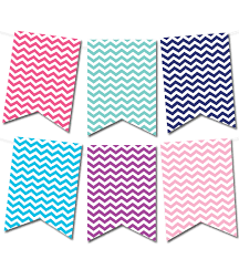 Free Printable Chevron Pennant Banner From