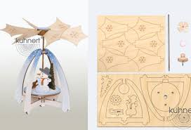 Make it Yourself Mini Snowman Pyramid Kit by Drechslerei Kuhnert